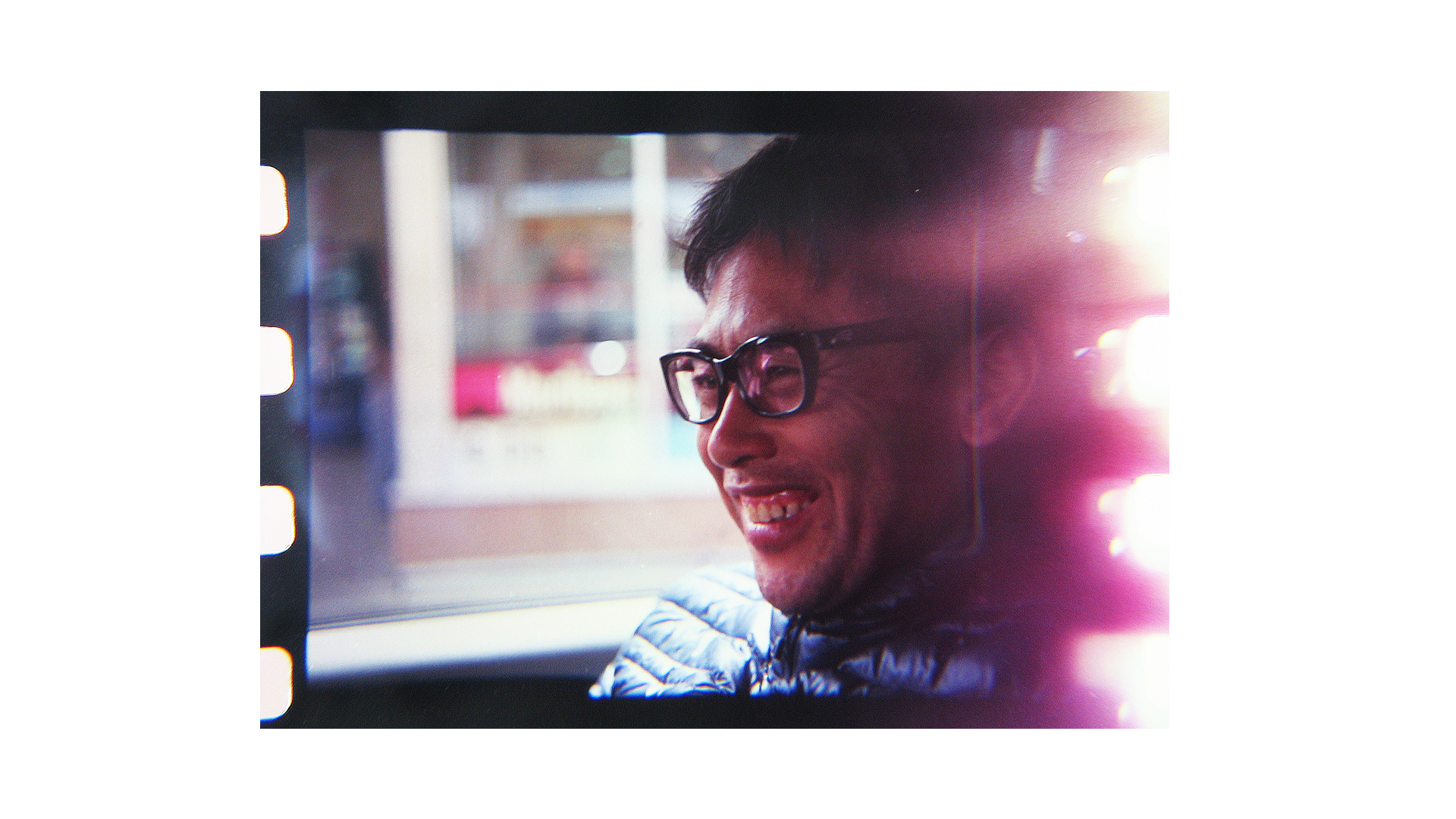 "My Favorite portrait of Taro. We had just been ruthlessly cut-off in traffic by a dude in a speeding white mustang on the drive up to Bend, OR and Taro kinda giggled and just said ""America classic."" I dunno if he meant the car or the move."