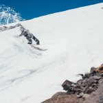 Andy Glader slashing through a snake run en route to Timberline's public park.