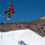 Expect to see some ridiculousness when you come to Timberline in the summer, like Ryan Flaska's one-footers on the hip.