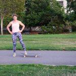 Skateboard Side Lunge (Step 1)