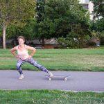 Skateboard Side Lunge (Step 2)