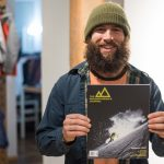 Ryan Paul, stoked on the new issue of The Snowboarder's Journal featuring Tim Eddy.