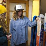 Zoe Vernon at the welcoming party at Mt. Baker Snowboards. Photo: Jessie Carlson