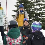 Hana Beaman leading a group in the snow safety course. Photo: Jessie Carlson