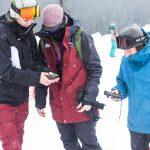 Kaitlyn Farrington leading a group during the snow safety course. Photo: Erin Hogue