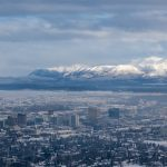 Anchorage, AK as seen from a Sportsman Air ski plane on the way out of the lodge.