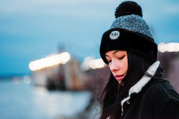 TSKJ BlackBeanie ModelShot Female V23