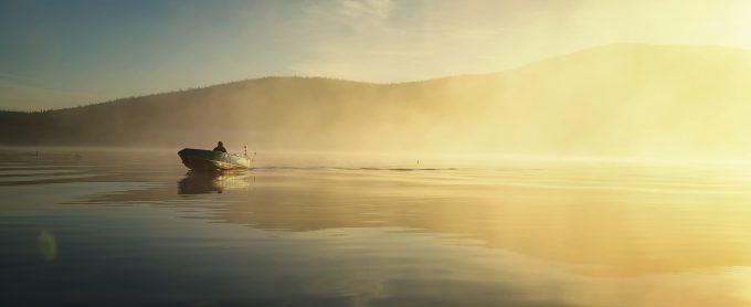 A man flyfishing in Canada's Northwest Territories