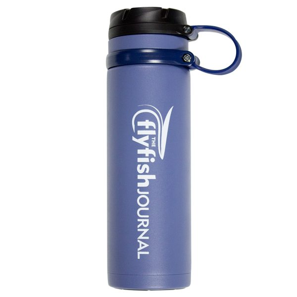 The Flyfish Journal Avex insulated water bottle.