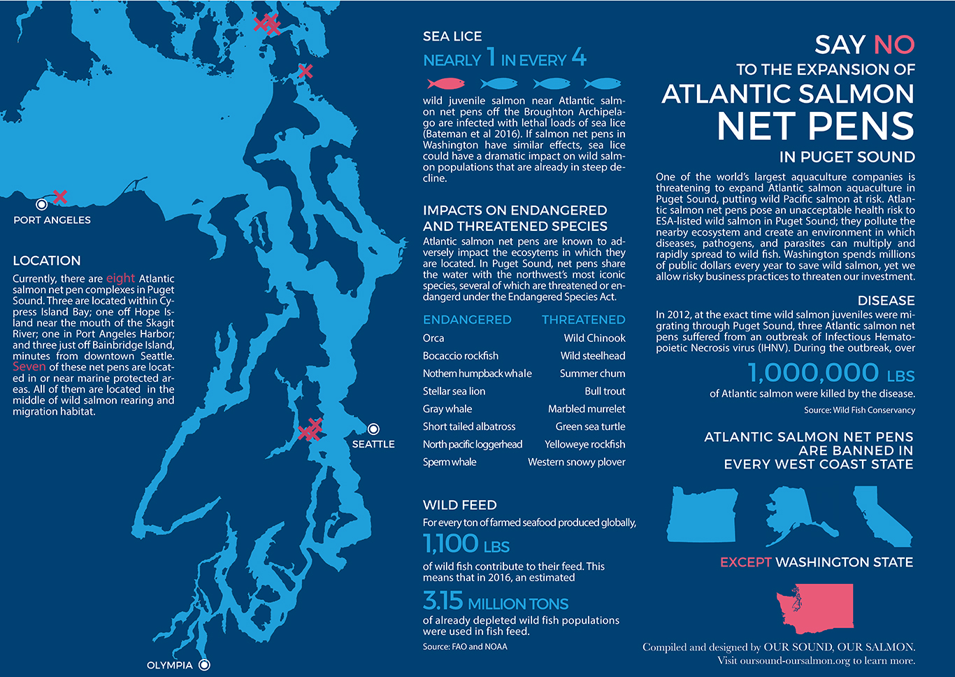 Say no to the expansion of Atlantic salmon net pens in Puget Sound
